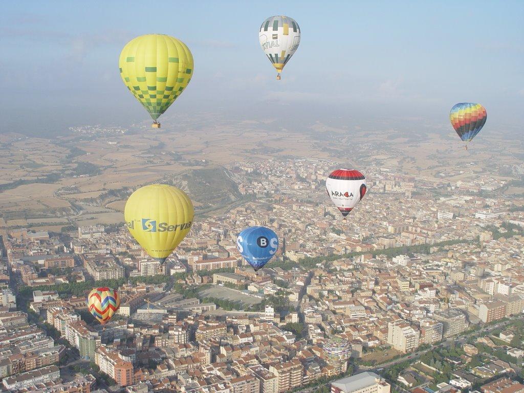 Balloons over Igualada