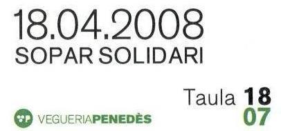 Sopar Solidari Nit de la Vegueria