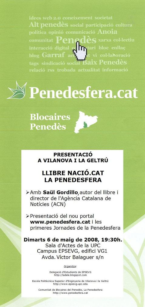 Presentació a Vilanova i la Geltrú del llibre Nació.cat i la Penedesfera