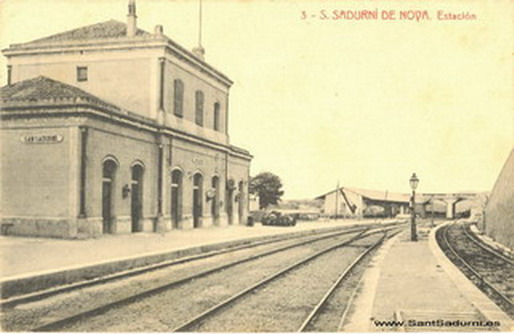 S. SADURNÍ DE NOYA. Estación (Font: www.santsadurni.es)