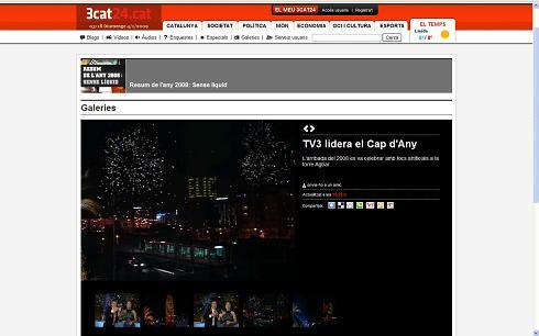3cat24.cat - TV3 lidera el Cap d'Any: L'arribada del 2008 es va celebrar amb focs artificials a la torre Agbar.