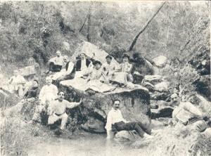 """La Font Freda al primer terç del segle XX (Autor: extreta del llibre """"Gelida, notes per sa historia"""", 1906, Torelló i Peracaula')"""