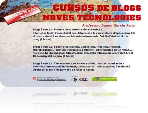 Cursos Blogs Primavera-Estiu 2009 Ajuntament de Gelida